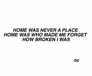 broken, home, and quote image