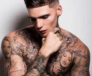 bad boy, Tattoos, and boys image