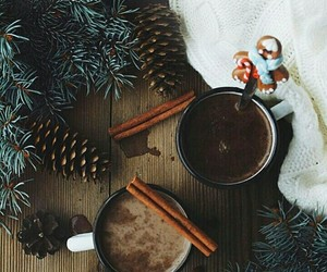 cup, winter, and hot ​chocolate image