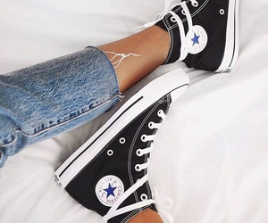 converse, shoes, and jeans image