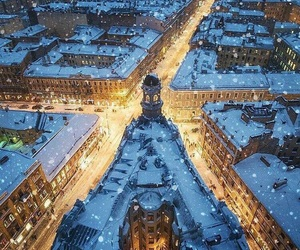 russia, snow, and city image