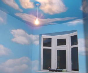 sky, room, and blue image