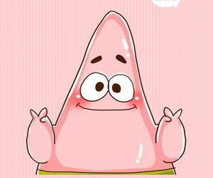 patrick, pink, and wallpaper image