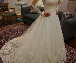 fashion, gorgeous girly, and wedding dress image