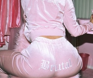 pink, aesthetic, and brutal image