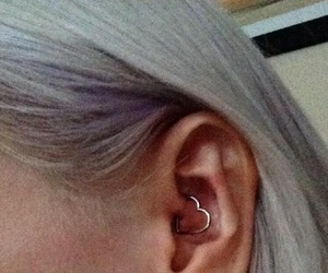 piercing, ear, and daith image