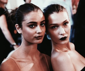 model, bella hadid, and taylor hill image