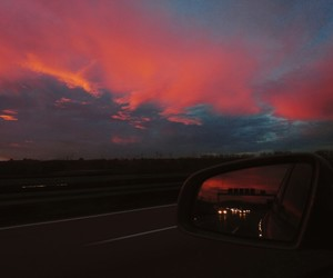 car, sky, and colors image