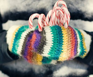 candy canes, cold days, and mittens image