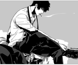 monochrome, anime, and psycho-pass image