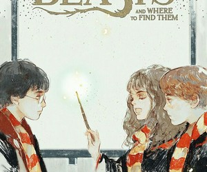 harry potter, fantastic beasts, and hermione granger image
