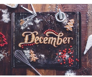 baking, december, and cookie image