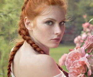 flower, model, and nordic image