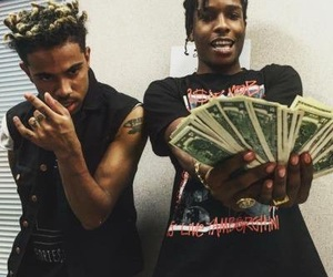 asap rocky, money, and vic mensa image