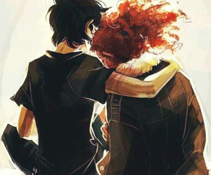 nico di angelo, hazel, and percy jackson image