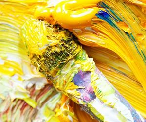 yellow, paint, and art image