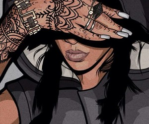 rihanna, art, and tattoo image