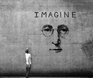 imagine, john lennon, and art image
