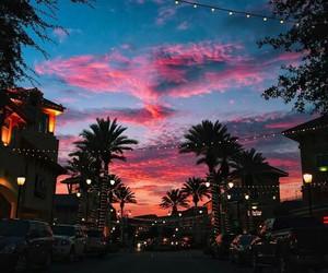 sky, sunset, and light image