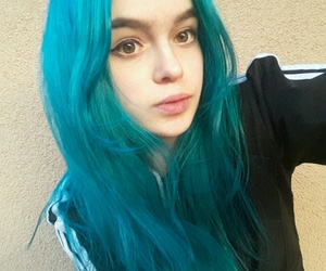 alien, bluehair, and girl image