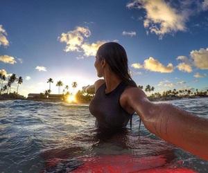 beach, feminist, and pool image