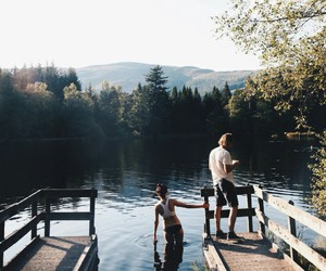 nature, couple, and indie image