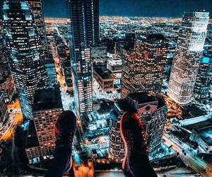 city street, night light, and fashion image