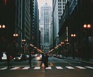 city, chicago, and street image