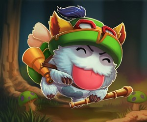 teemo, league of legends, and poro image