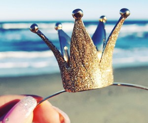 crown, gold, and shiny image