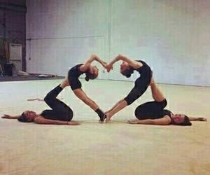 heart and gymnastics image