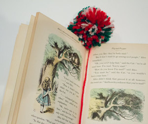 alice in wonderland, bookmark, and bookmarks image