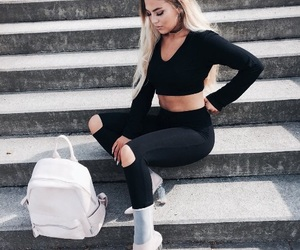 bag, clothes, and outfit image