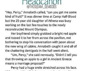 percy jackson, annabeth, and camp half blood image