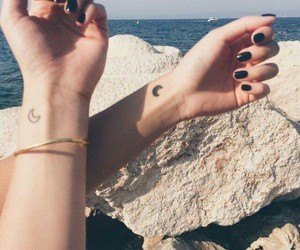 tattoo, moon, and friends image