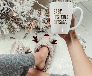 christmas, winter, and cold image