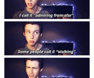 troye sivan, funny, and stalking image