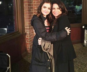pll, lucy hale, and aria montgomery image