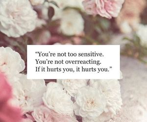 quote, hurt, and sensitive image