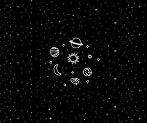 wallpaper, stars, and black image