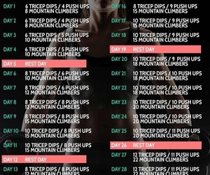 workout, fitness, and challenge image