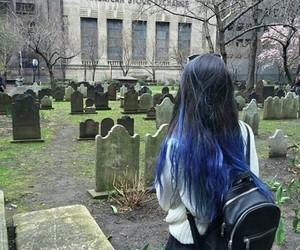 grunge, girl, and blue image