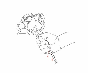 rose, art, and blood image