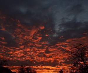 dawn, sky, and red image