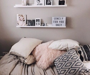 bed, cozy, and inspiration image