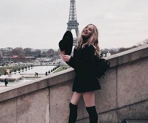 paris, style, and black image