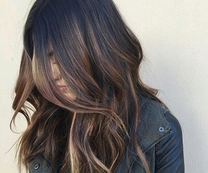 brunette and hair image