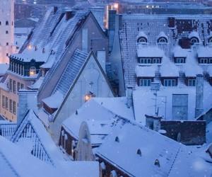 snow, winter, and estonia image