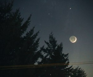 evening, magic, and moon image