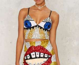 nasty gal, sequins, and fashion image